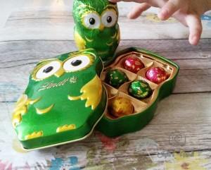Eulen Schokolade von Lindt