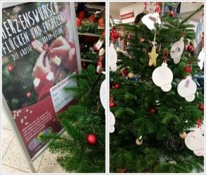 ein Wunschbaum im Supermarkt