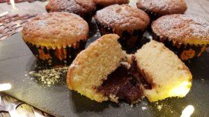 Rezept fuer Nutella Muffins mit fluessigem Kern als Mitbringsel fuer die Schule oder den Kindergarten